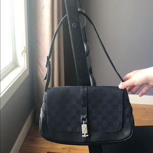 authentic Gucci monogram Jackie O style bag